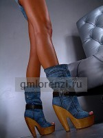 Gianmarco Lorenzi denim boots